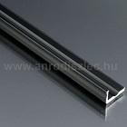 Image of Aluminium L profil LED szalaghoz 16x10 mm (fekete)